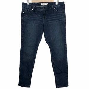 Torrid Skinny Dark Wash Mid-rise Jeans Size 14S